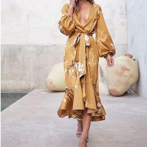 Express x Rocky Barnes Kimono Dress